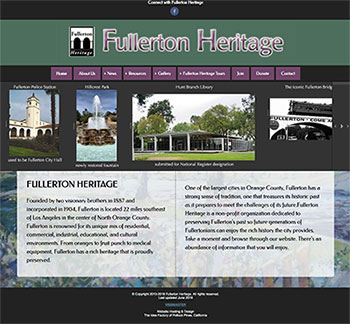 Fullerton Heritage home page
