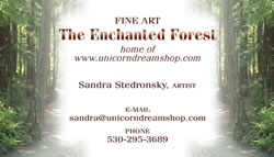The Enchanted Forest business card front