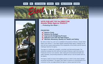 Art Toy campaign website