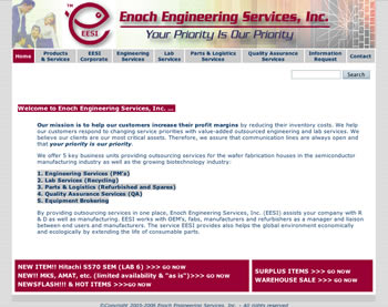 Enoch Engineering website home page