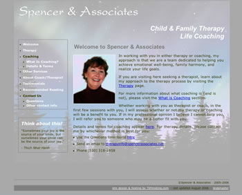 Spencer Associates website homepage