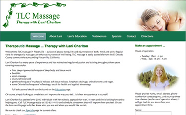 TLC Massage home page